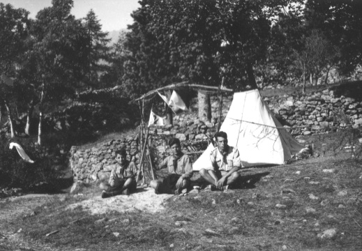 Campo Scout di Issime,  1949